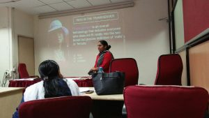 Seminar presentation on transgender rights at Dr. Babasaheb Ambedkar Research and Training Institute (BARTI)